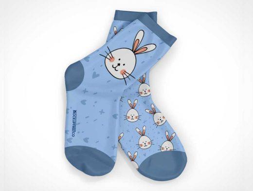 Children's Socks PSD Mockup