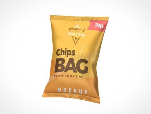 Chips Snack Bag PSD Mockup