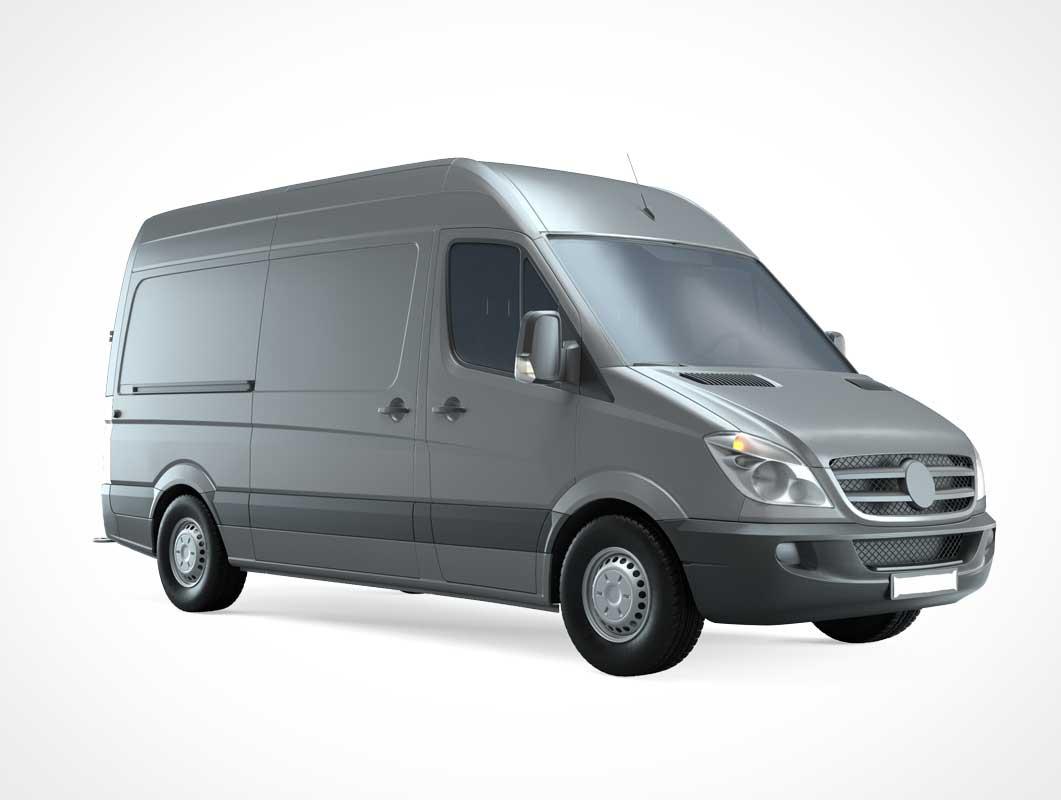 Delivery Van Vehicle PSD Mockup