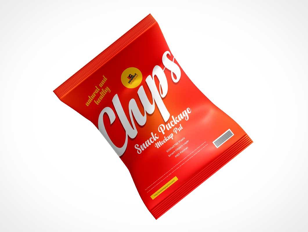 Foil Chip Bag PSD Mockup