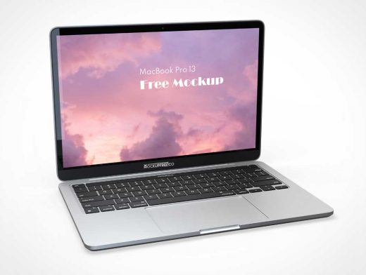 Laptop Computer Workstation PSD Mockup