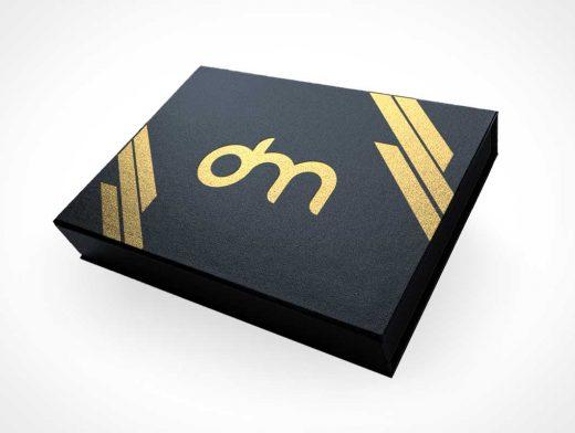 Premium Box Packaging PSD Mockup