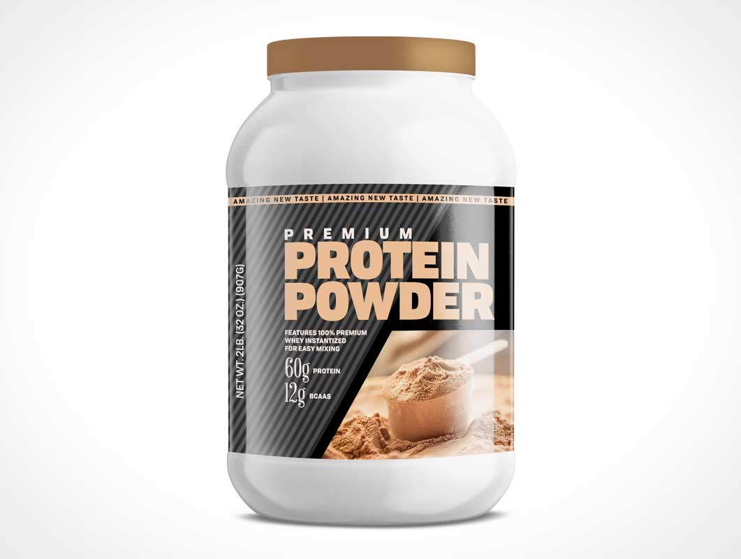 Protein Supplements Container Jar PSD Mockup