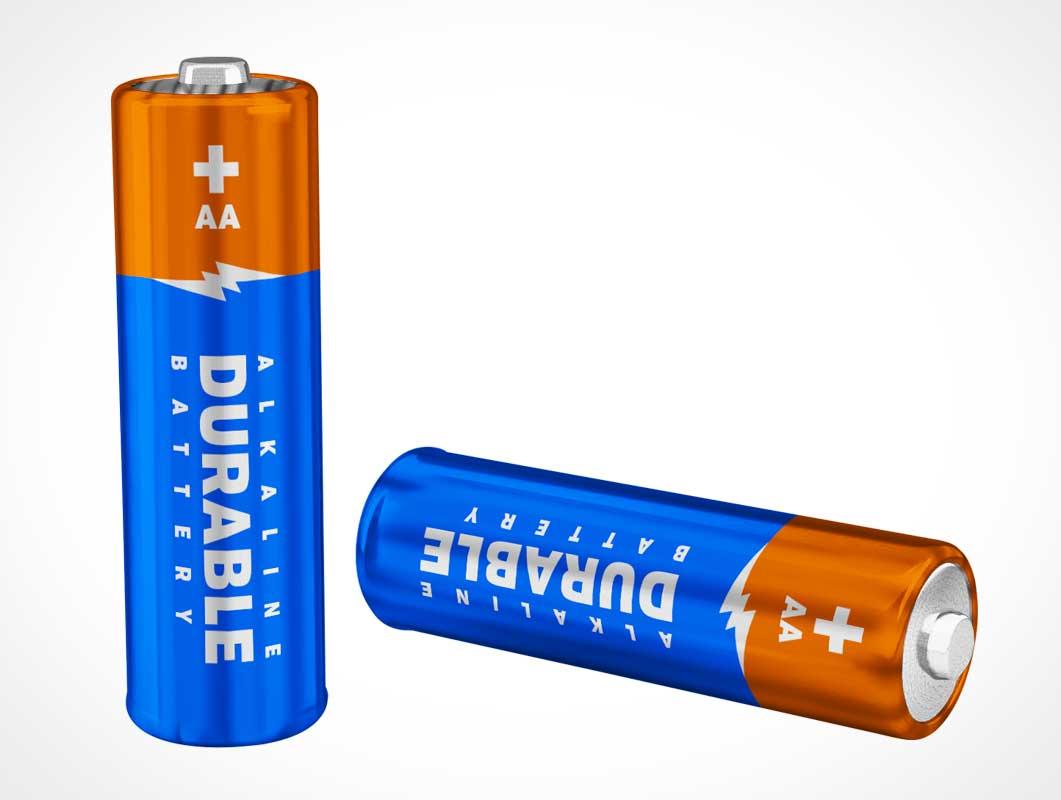 AA Battery PSD Mockup