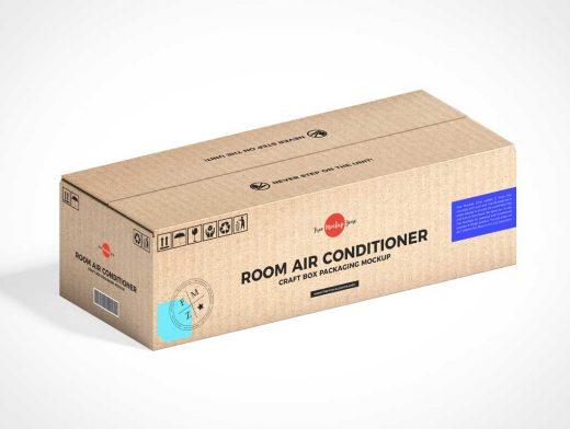 Corrugated Rectangular Mailer Box PSD Mockup