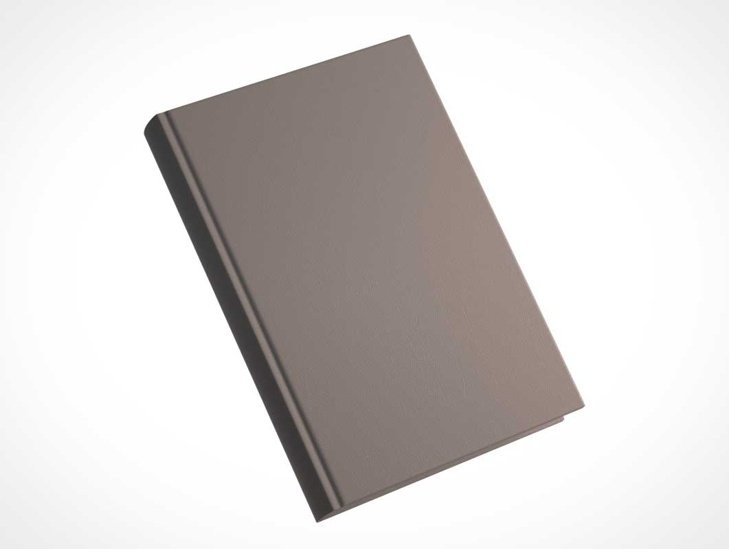 Floating Hardcover Book PSD Mockup