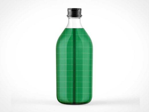 Glass Tonic Water Bottle PSD Mockup
