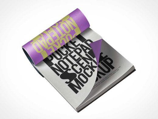 Notepad Pocketbook PSD Mockup