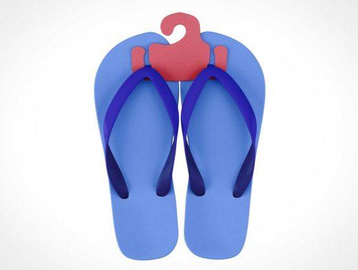 Beach Flip Flop Sandals PSD Mockup