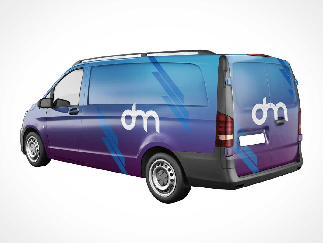 Branded Delivery Van PSD Mockup