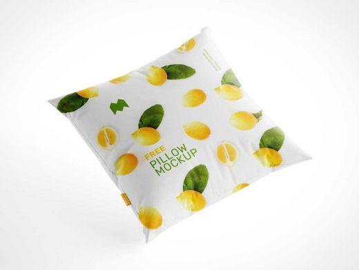 Fabric Design Throw Pillow PSD Mockup