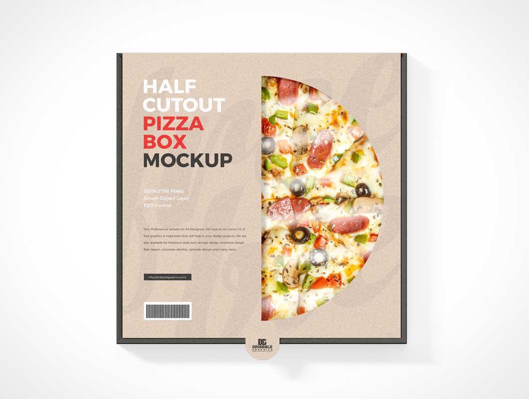 Frozen Pizza Box & Package Window PSD Mockups