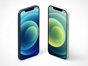 Isometric iPhone 12 PSD Mockup