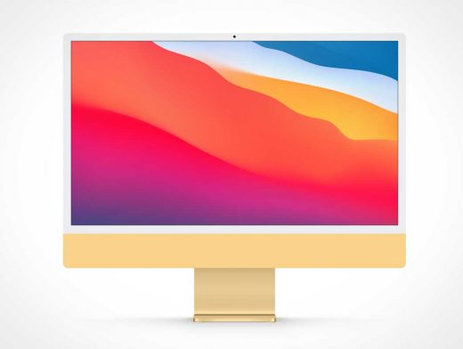 M1 Apple iMac 24 Inch PSD Mockups