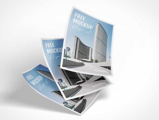 Paper Flyer Advertising PSD Mockup