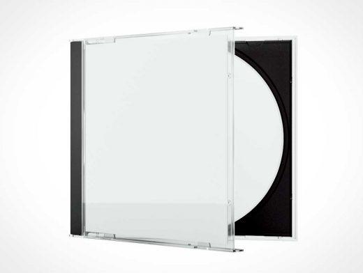 Semi-Closed CD Jewel Case PSD Mockup