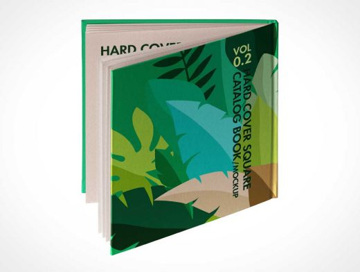 Square Hardbook Back Cover PSD Mockup