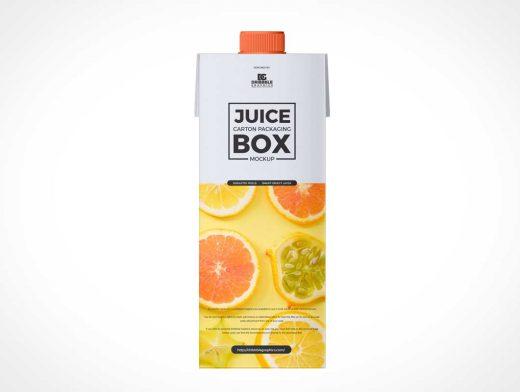Top Pour Spout Juice Box PSD Mockup
