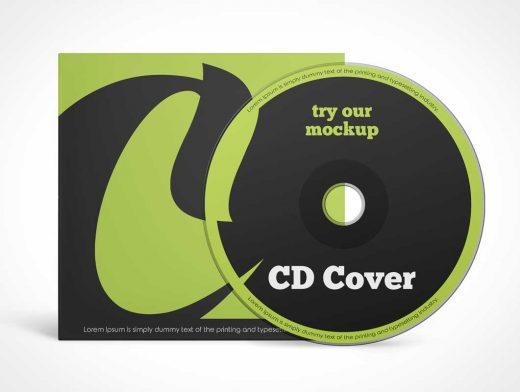 Compact Music CD Album & Sleeve PSD Mockups