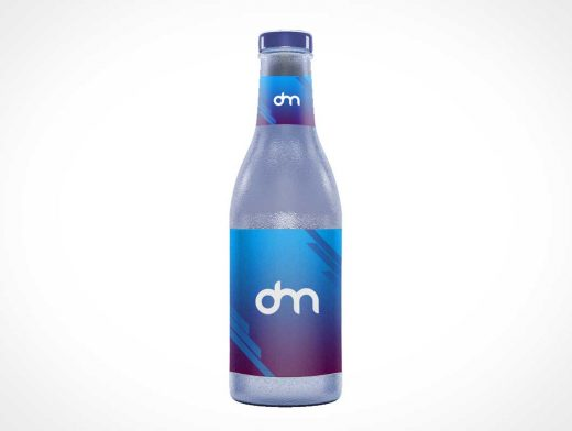 Dimpled Glass Water Bottle PSD Mockups
