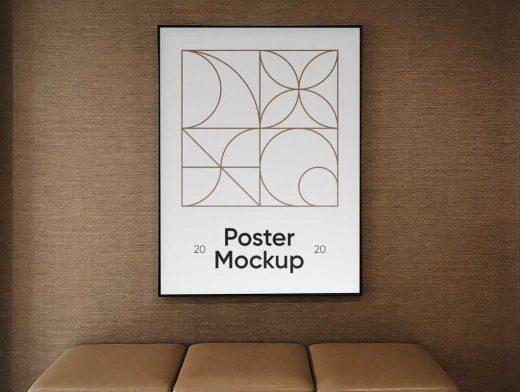 Hotel Lobby Poster PSD Mockups
