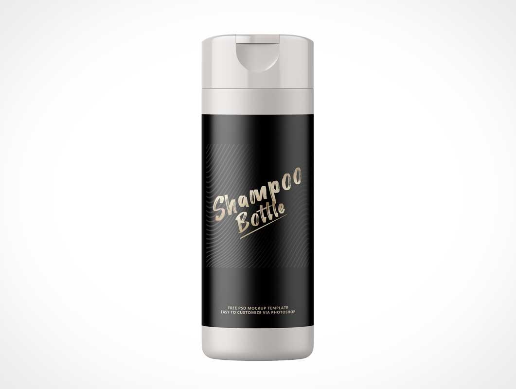 Snap-On Cap Shampoo Bottle PSD Mockups