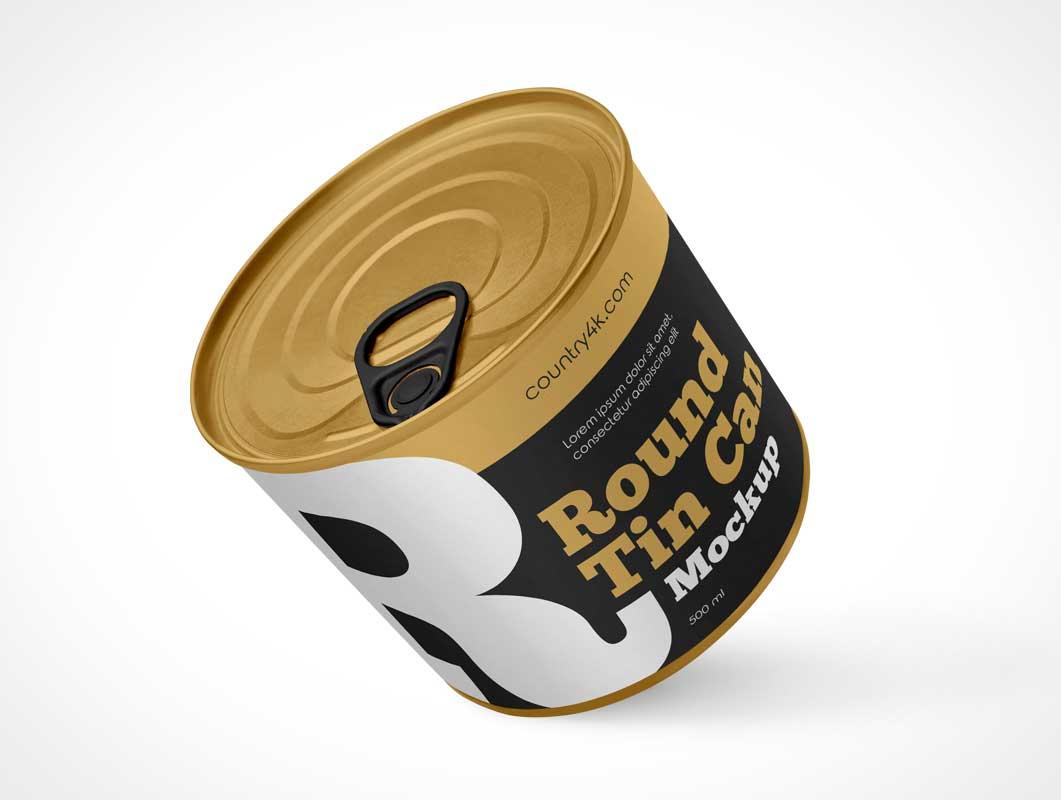 Tin Can & Pull Tab PSD Mockups