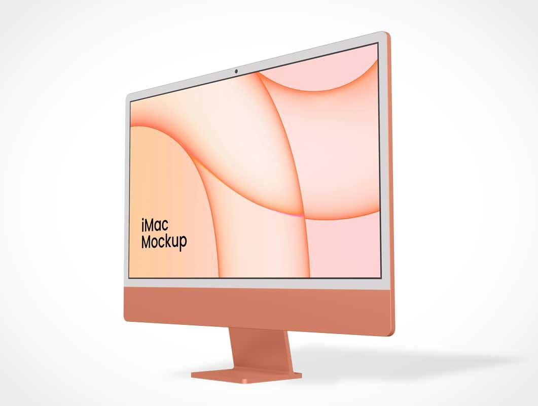 iMac M1 Silicon Workstation PSD Mockups