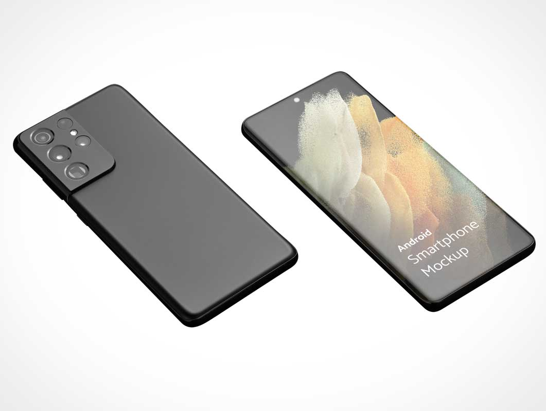 Android Galaxy S21 Smartphone PSD Mockup