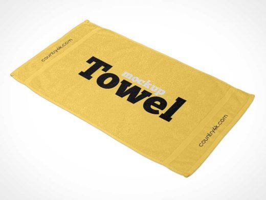 Bathroom Shower Towel PSD Mockups