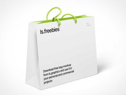 Boutique Shopping Bag & String Carry Handles PSD Mockups