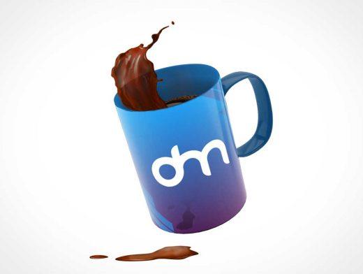 Floating Coffee Mug PSD Mockups