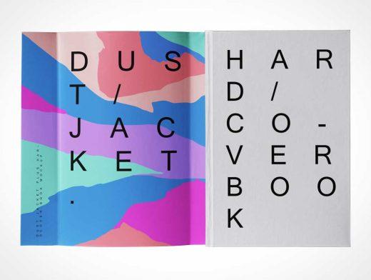Hardcover Book & Dust Jacket PSD Mockups