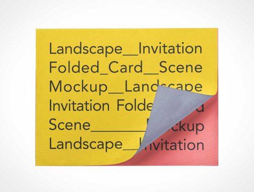 Invitation Card PSD Mockups