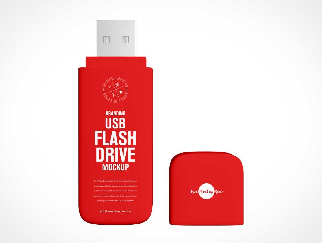 Pocket USB Thumb Drive PSD Mockups
