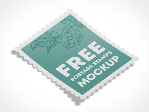 Postage Mail Stamp PSD Mockups