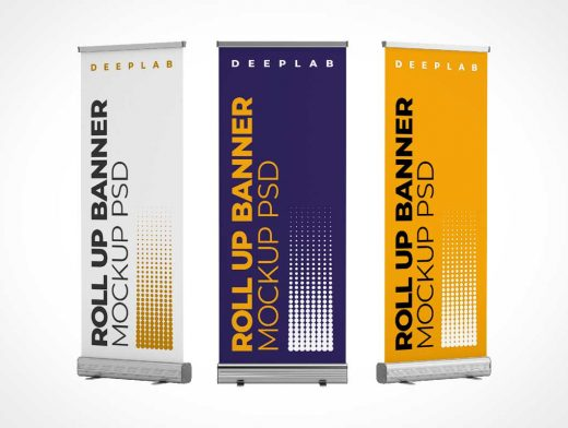 Rollup Trade Show Event Banner Flag PSD Mockup