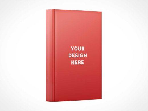 Standing Hardcover Book & Spine PSD Mockups