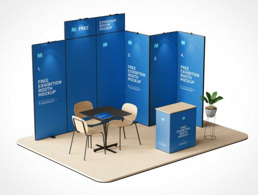 Trade Show Exhibition Booth PSD Mockups