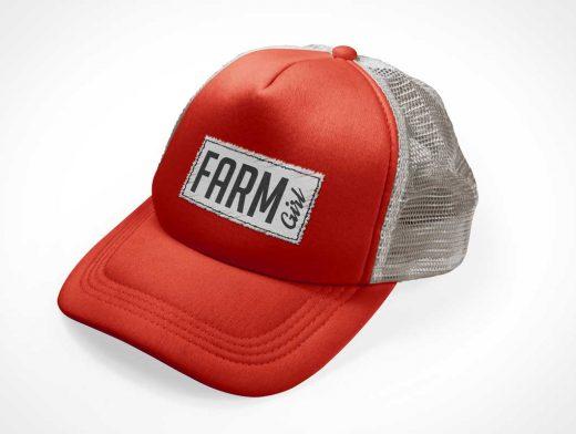Trucker Cap Hat PSD Mockups