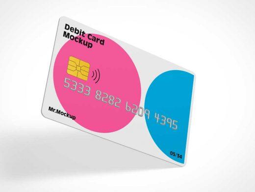 Blank Debit Card PSD Mockups