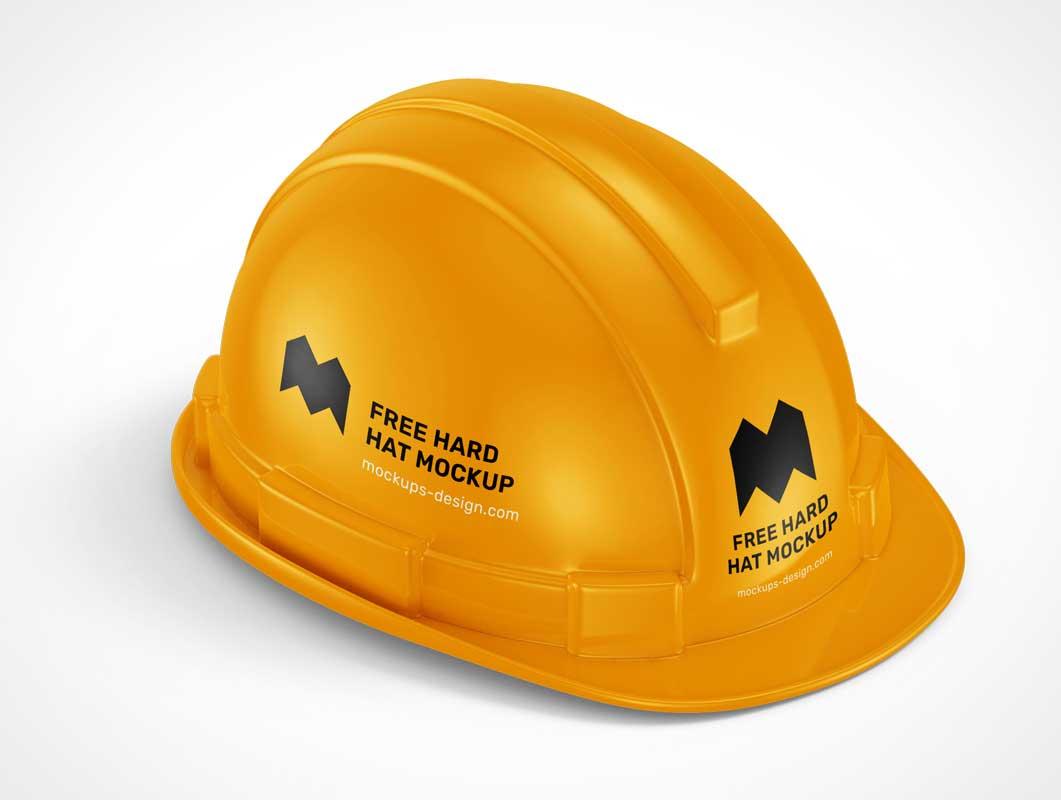 Construction Safety Helmet Hardhat PSD Mockups