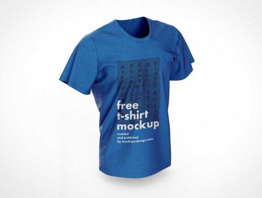Men's Round Collar T-Shirt PSD Mockups