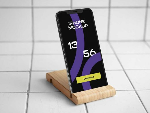 Mobile iPhone & Smartphone Stand PSD Mockups