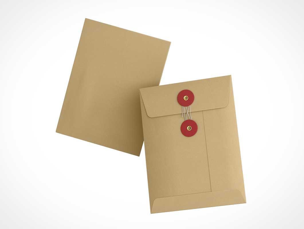 Paper Kraft Manila Envelope PSD Mockups