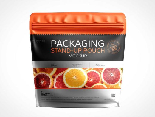 Sealed Foil Pouch Packaging PSD Mockups