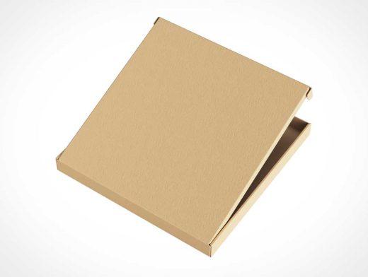 Square Cardboard Pizza Box PSD Mockups