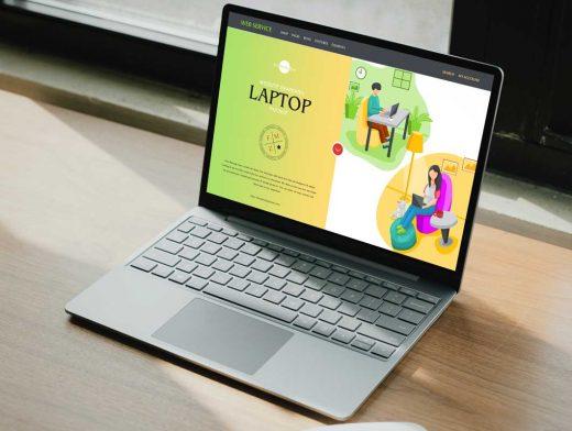 Tenkeyless Laptop Workstation PSD Mockups