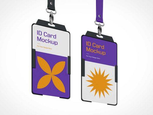 Trade Show & Event Badge ID PSD Mockups