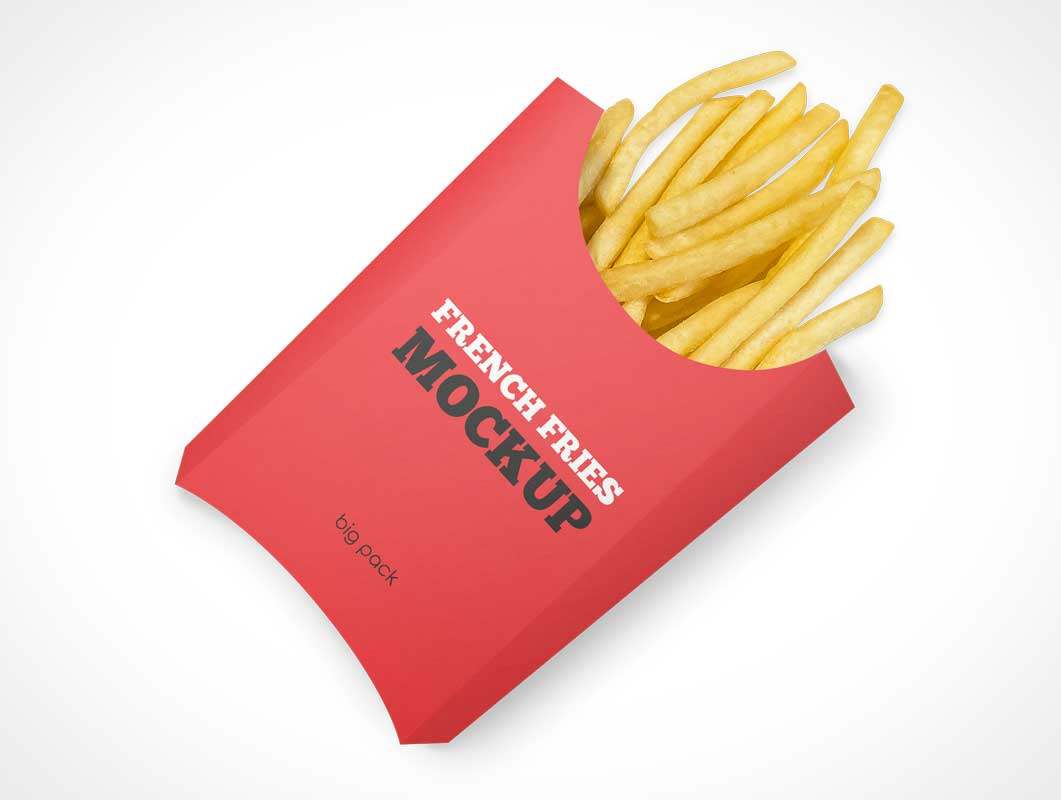 Fast Food French Fries Take-out PSD Mockups